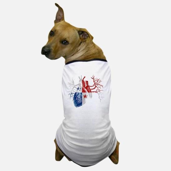 Panama Flag in Real Heart Dog T-Shirt