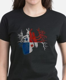 Panama Flag in Real Heart Tee