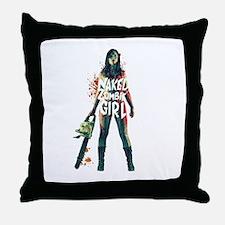 Naked Zombie Girl Throw Pillow