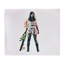 Naked Zombie Girl Throw Blanket