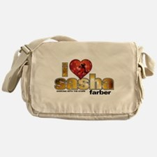 I Heart Sasha Farber Canvas Messenger Bag