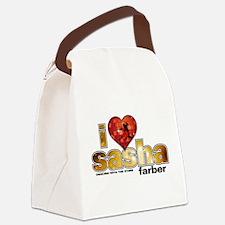I Heart Sasha Farber Canvas Lunch Bag