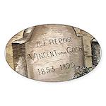 Vincent Oval Sticker
