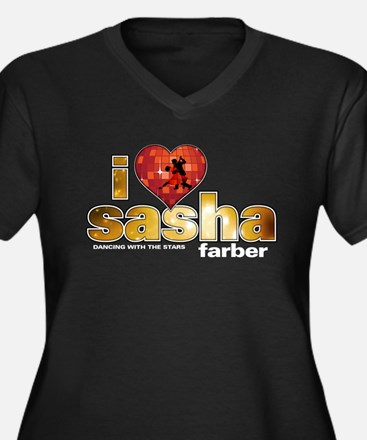 I Heart Sasha Farber Women's Dark Plus Size V-Neck