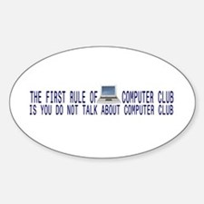 Computer Club Oval Decal