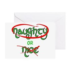 Naughty or Nice Greeting Cards
