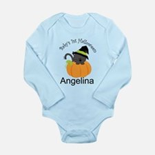 Personalized 1st Halloween Long Sleeve Infant Body