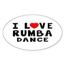 I Love Rumba Decal