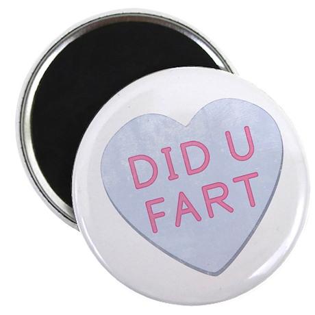 "Did U Fart Anti Valentine 2.25"" Magnet (10 pack)"