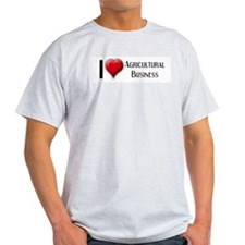I Love (Heart) Agricultural B Ash Grey T-Shirt