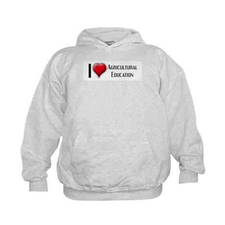 I Love (Heart) Agricultural E Kids Hoodie