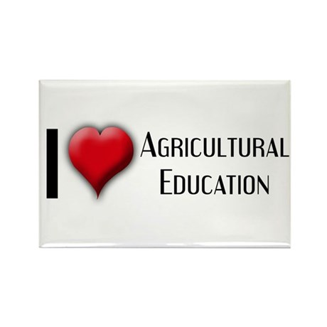 I Love (Heart) Agricultural E Rectangle Magnet (10