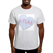 LYLAS Funny 80's Ash Grey T-Shirt