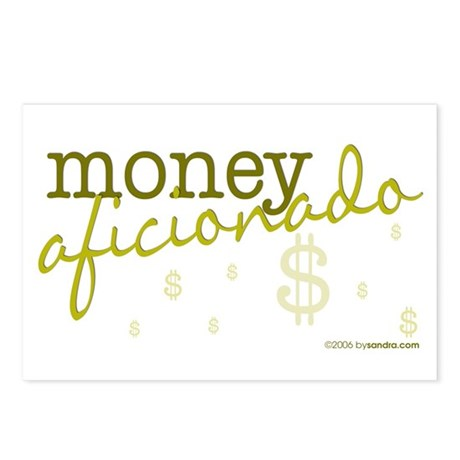 Money Aficionado Postcards (Package of 8)