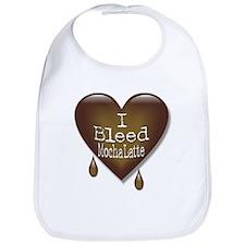 I Bleed Mocha Latte Heart Bib