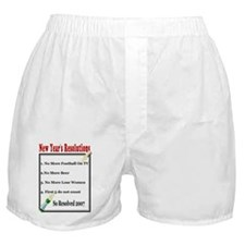 New Year's Resolutions Boxer Shorts