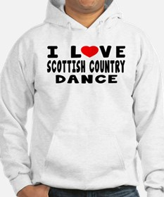 I Love Scottish Country Jumper Hoody