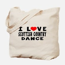 I Love Scottish Country Tote Bag