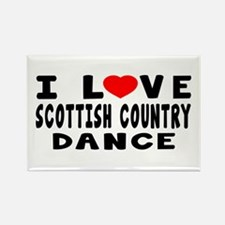 I Love Scottish Country Rectangle Magnet
