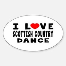 I Love Scottish Country Decal