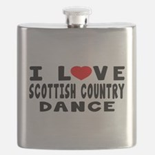 I Love Scottish Country Flask