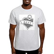 Best Buds Black (Best) Ash Grey T-Shirt