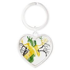 Jamaican Flag In Real Heart Heart Keychain