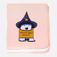 TFT Westie Witch baby blanket