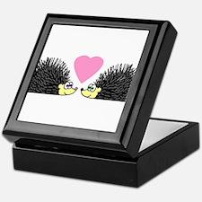 Cute Hedgehogs in Love Keepsake Box