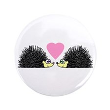 "Cute Hedgehogs in Love 3.5"" Button"