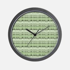 Earthy Green Abstract Wall Clock