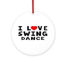 I Love Swing Ornament (Round)