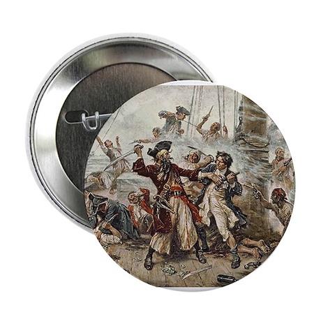 "Blackbeard Pirate 2.25"" Button (100 pack)"