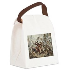 Blackbeard Pirate Canvas Lunch Bag