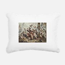 Blackbeard Pirate Rectangular Canvas Pillow