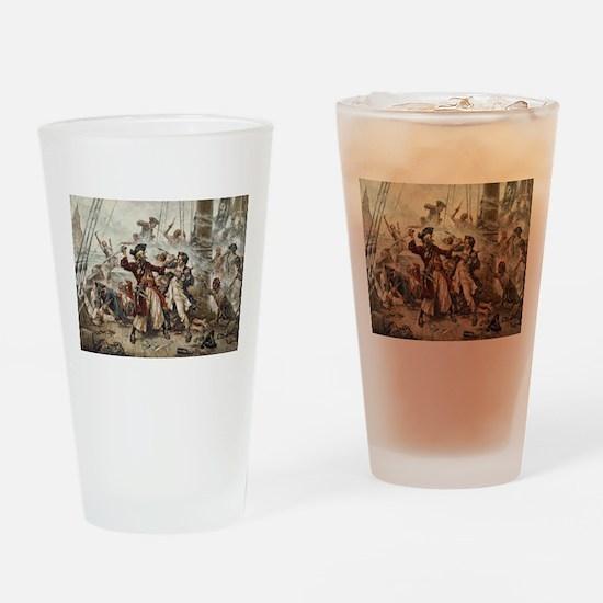 Blackbeard Pirate Drinking Glass
