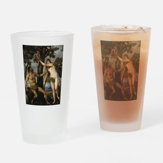 Adam and Eve Drinking Glass