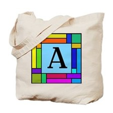 Letter A Pop Art Monogram Tote Bag