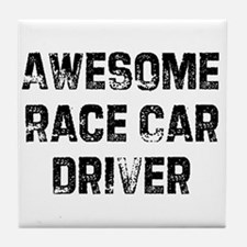 Awesome Race Car Driver Tile Coaster