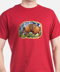 Armadillo Rose Texas T-Shirt