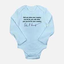 JFK Inaugural Quote Long Sleeve Infant Bodysuit