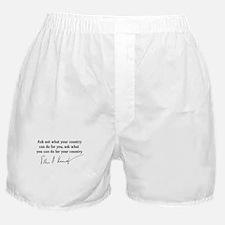 JFK Inaugural Quote Boxer Shorts