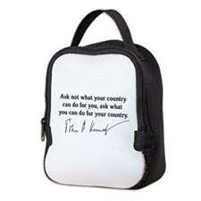 JFK Inaugural Quote Neoprene Lunch Bag