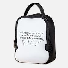 JFK Inaugural Quote Neoprene Lunch Bag