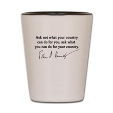 JFK Inaugural Quote Shot Glass