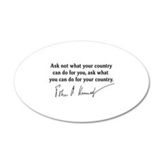 JFK Inaugural Quote Wall Decal