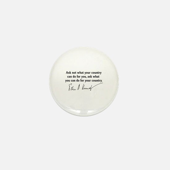JFK Inaugural Quote Mini Button
