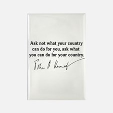 JFK Inaugural Quote Rectangle Magnet