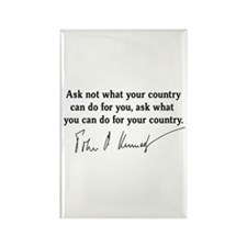 JFK Inaugural Quote Rectangle Magnet (100 pack)