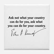 JFK Inaugural Quote Tile Coaster